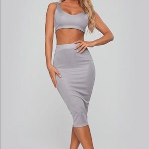 Skirt Set Grey